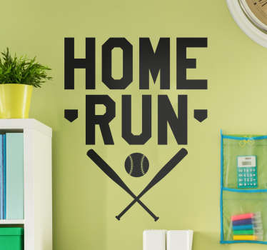 Muursticker sport Home Run