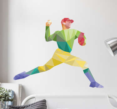 Muursticker sport honkbal pitcher
