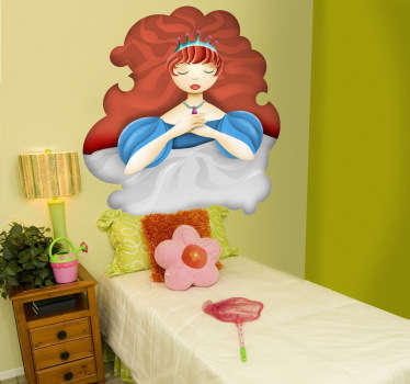 Decorative sticker illustrating the sleeping beauty. A fantastic decal to decorate your child´s room. Your child will love it!