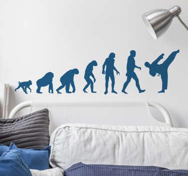 Sticker evoluzione umana karate