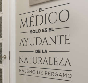 Vinilo cita medicina Galeno