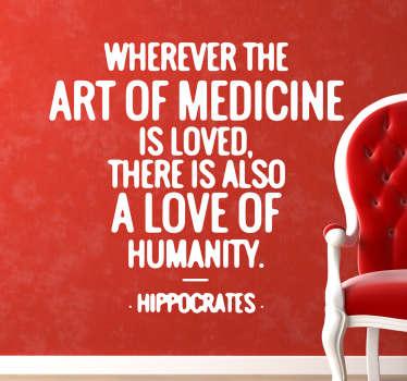 Hipokrates Cytat Naklejka na ścianę