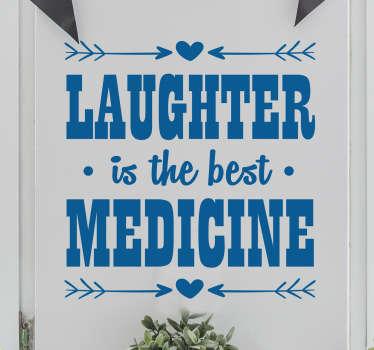 Wandtattoo laughter best medicine