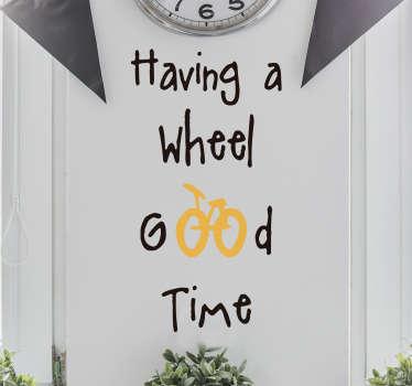 Vinilo ciclistas wheel good time
