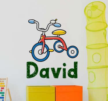 Adesivo personalizzato triciclo