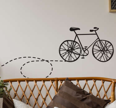 Aufkleber Fahrrad Spur