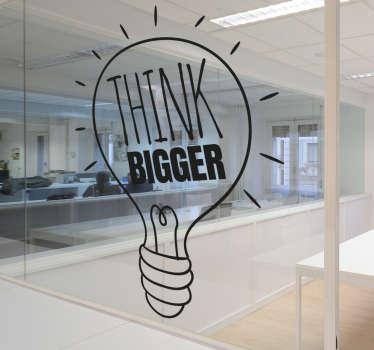 Vinilo decorativo think bigger