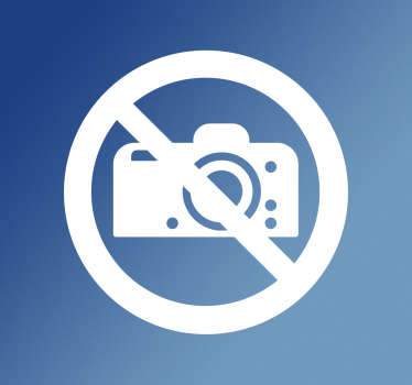 No photo's sign sticker. If your business permits customers to not take pictures, this sign is perfect.