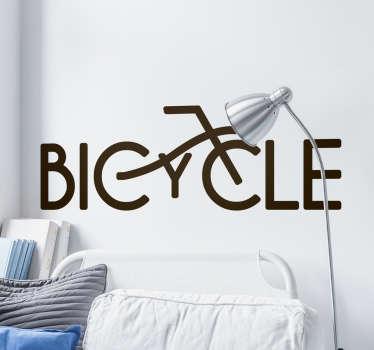 Teksti sisustustarra Bicycle