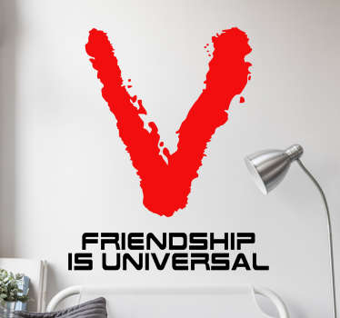Adesivo murale V friendship universal