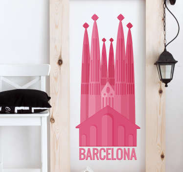 Muursticker Barcelona Sagrada Familia