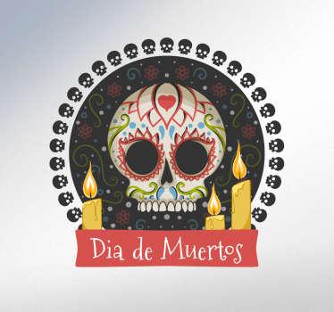 Vinilos celebración día de muertos