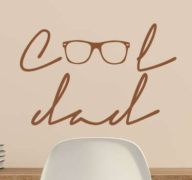 Sticker cool dad lunettes