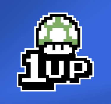 Muursticker videogames 1 up