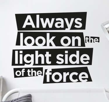 Muursticker Light Side Star Wars