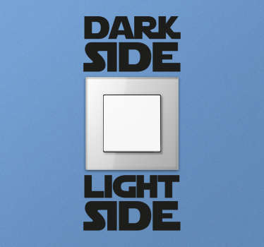 Adesivo coppia Dark Light Side