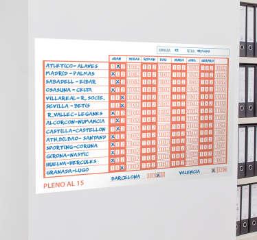 Vinilos pizarra Vileda con una representación de un boleto de este popular juego de azar que podrás utilizar en tu oficina o en tu casa.