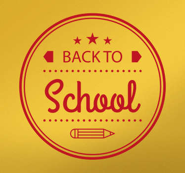 Muursticker cirkel back to school