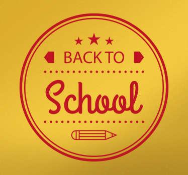 Adesivo murale Cerchio Back to School