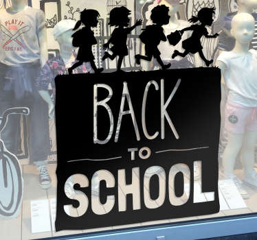 Muursticker Back to School kinderen