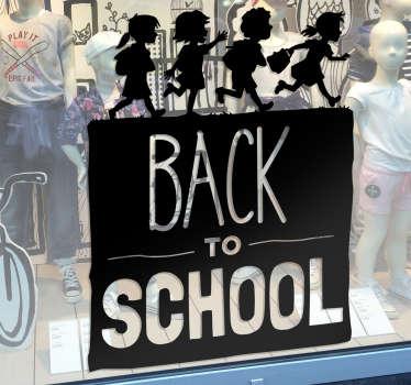 Aufkleber Back to School negativ