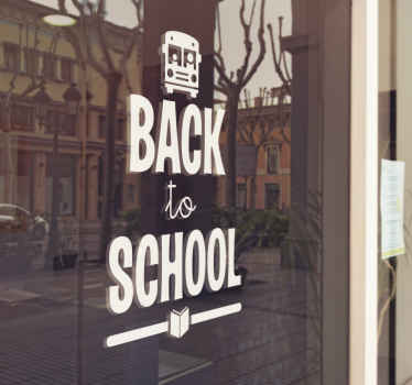 This removable wall sticker is perfect for decorating a school or a shop that sells school supplies.