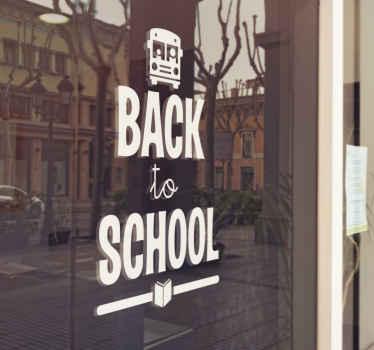 Naklejka witrynowa - Back to school