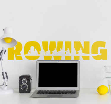 Decorate your rowing club with this fantastic text based sticker. Bring some life and colour to your rowing club with this great wall decoration.