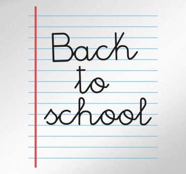 Sisustustarra kouluvihko Back to school