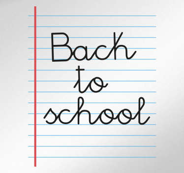 Aufkleber back to school Buch