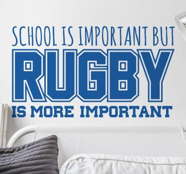 Adesivo murale School vs Rugby
