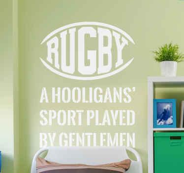 Rugby Text Sticker