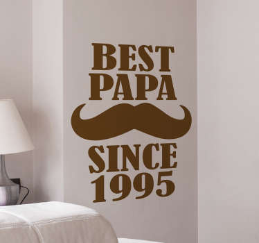 Best Papa Wall Sticker