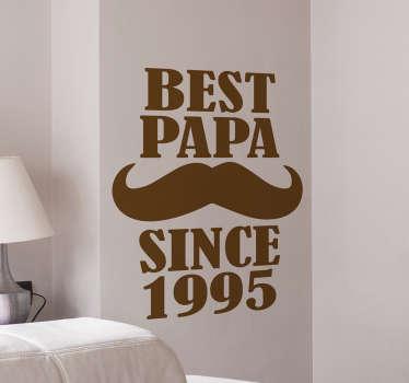 Muursticker personaliseerbaar best papa