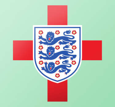 St George Flag And England Badge Sticker