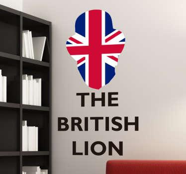 Sticker drapeau the British Lion