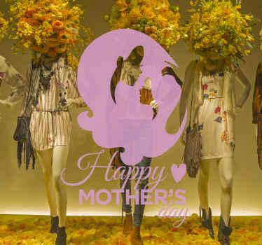 Klassisk mors dag klistermærke