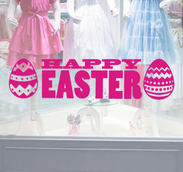 Happy Easter Window Sticker. Wish everyone you know a happy Easter with this fantastic Easter sticker.