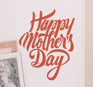 "Surprise your mum this mothers day with this fantastic wall sticker. The text wall sticker consists of the message ""happy mothers day"""