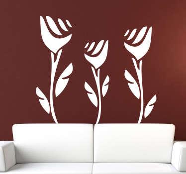 Three Roses Wall Sticker