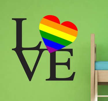 Adesivo decorativo Love Gay Pride