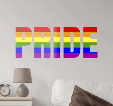 Get behind the LGBT community with this wall sticker. Whether you're gay or just support equal rights for everyone this wall sticker is perfect.