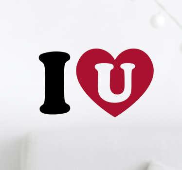 Sticker I coeur U