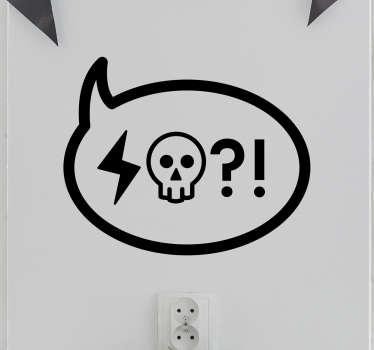 Adesivo murale Nuvoletta Insulto