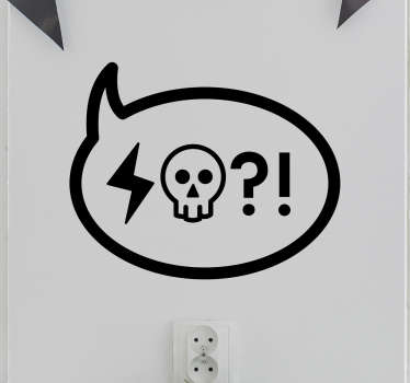 Pegatina iconos insulto