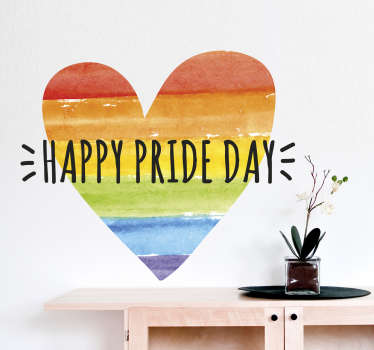 Show your support for the LGBT community with this removable wall sticker. Whether you are gay or just support the cause decorate your home