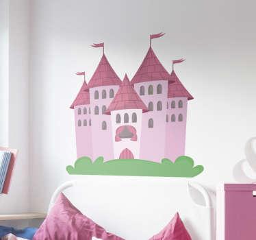 Vinilo cabeceros de cama castillo niña