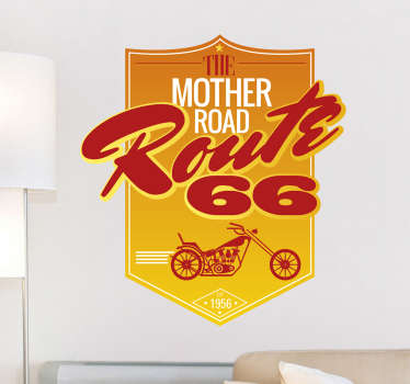 Sticker Route 66 logo bike