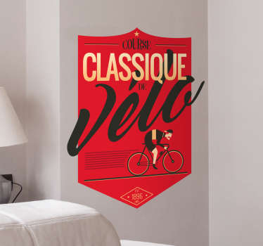 Sticker vintage Poster Ciclismo