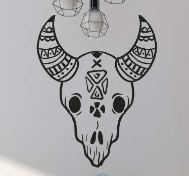 Naklejka na ścianę Czaszka Zwierzęca